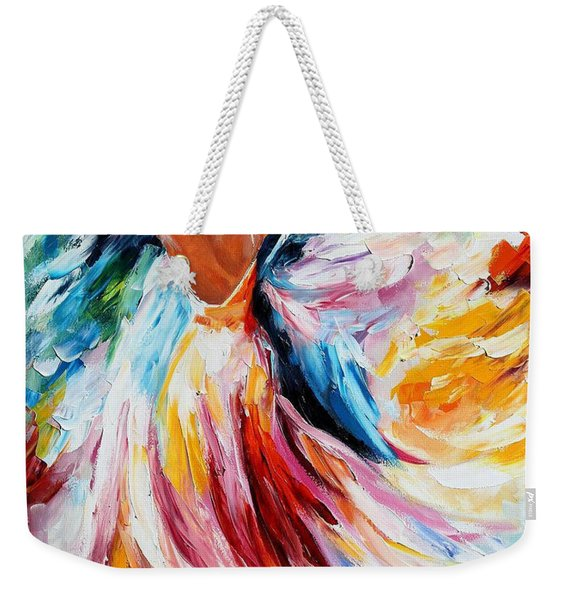 Waltz - Palette Knife Oil Painting On Canvas By Leonid Afremov Weekender Tote Bag