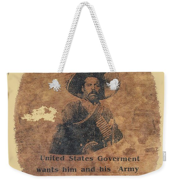 Wanted Poster For Pancho Villa After Columbus New Mexico Raid  Weekender Tote Bag