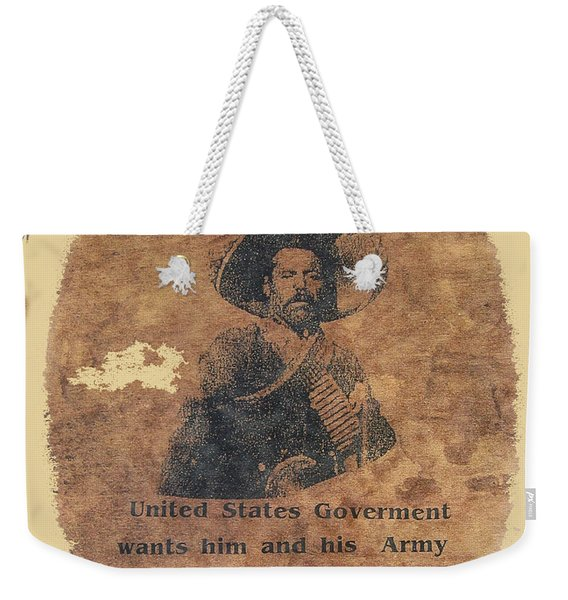 Wanted Poster For Pancho Villa After Columbus New Mexico Raid  Weekender Tote Bag