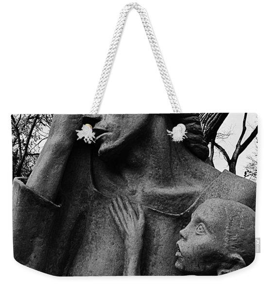 War Mother By Charles Umlauf In Black And White Weekender Tote Bag