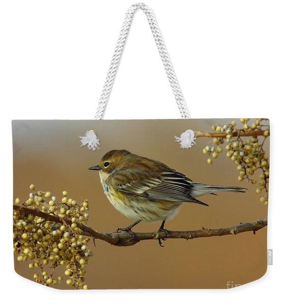 Yellow Rumped Warbler Weekender Tote Bag