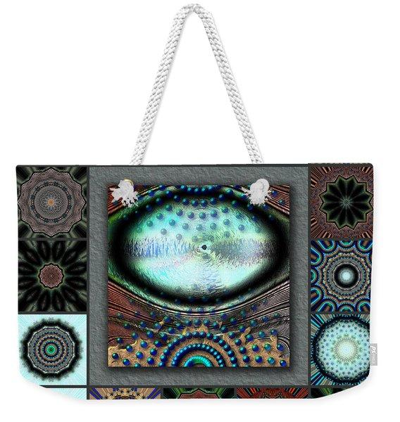 Warm Cosmos Redux Weekender Tote Bag