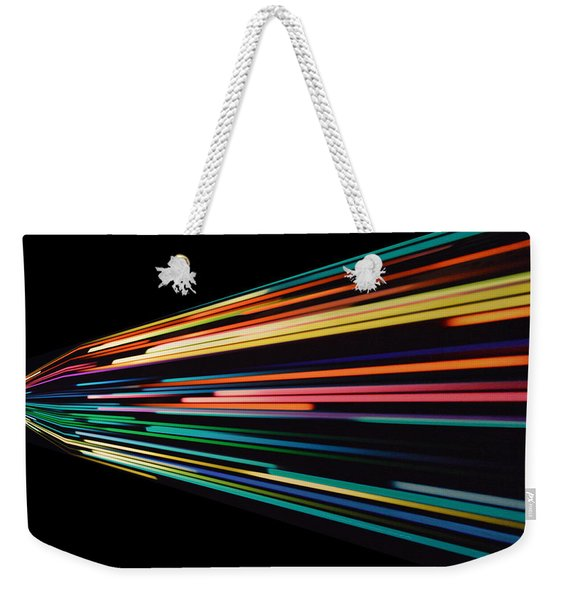 Warp Speed Abstract Left Panel Weekender Tote Bag