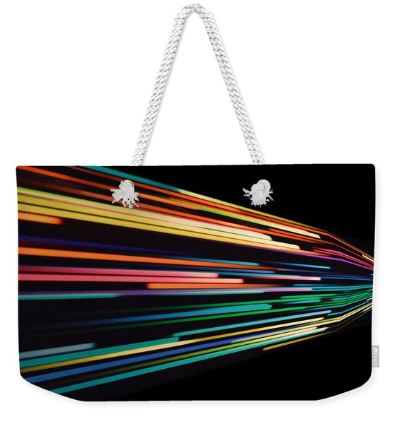 Warp Speed Abstract Right Panel Weekender Tote Bag