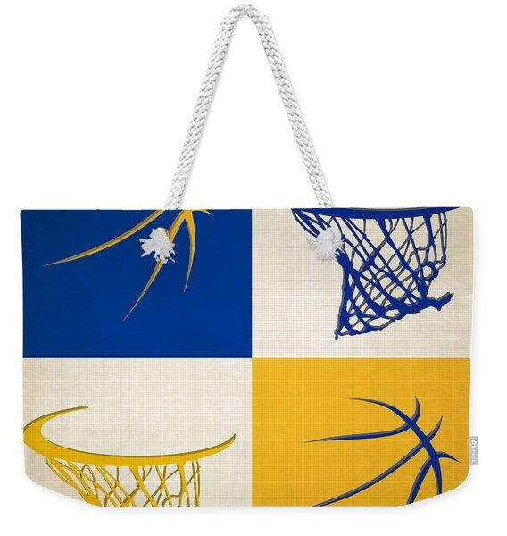 Warriors Ball And Hoop Weekender Tote Bag