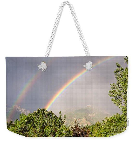 Wasatch Rainbow Weekender Tote Bag