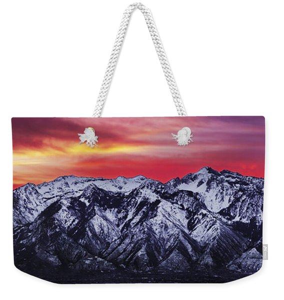 Wasatch Sunrise 3x1 Weekender Tote Bag