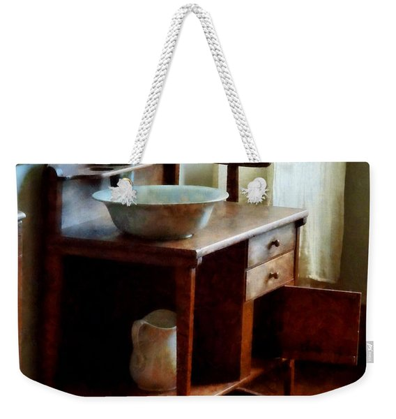 Wash Basin And Towel Weekender Tote Bag