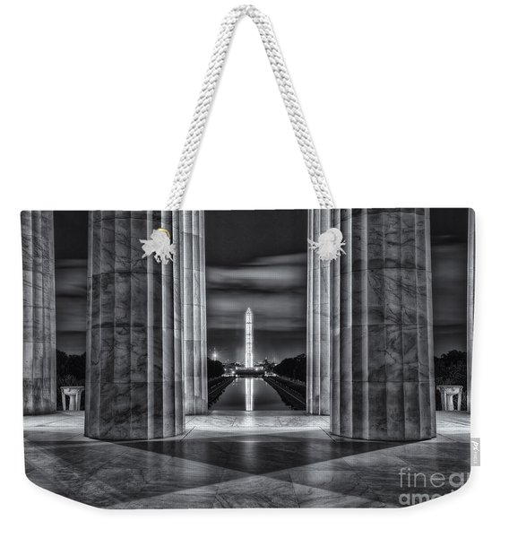 Washington Monument From Lincoln Memorial II Weekender Tote Bag