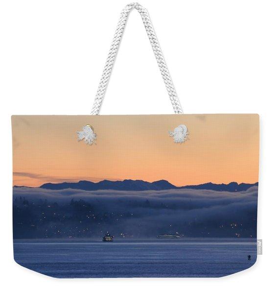 Washington State Ferries At Dawn Weekender Tote Bag