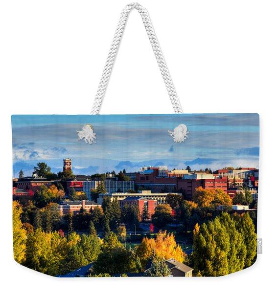 Washington State University In Autumn Weekender Tote Bag
