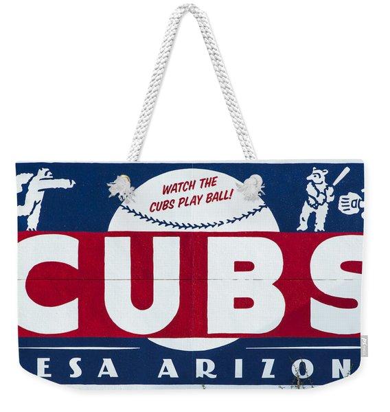 Watch The Cubs Weekender Tote Bag