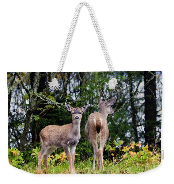 Watching Out For Mom Weekender Tote Bag