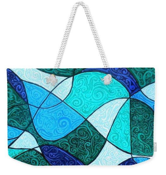 Water Abstract Weekender Tote Bag