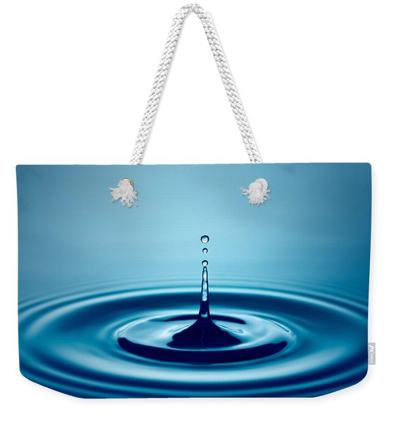 Water Drop Splash Weekender Tote Bag