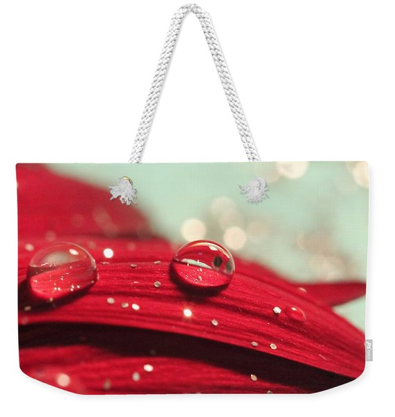 Water Drops And Glitter Weekender Tote Bag