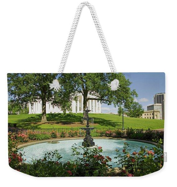Water Fountain And Virginia State Weekender Tote Bag