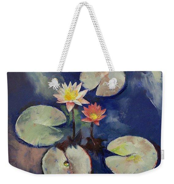 Water Lily Painting Weekender Tote Bag