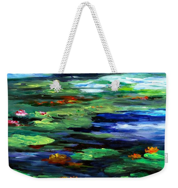Water Lily Somnolence Weekender Tote Bag