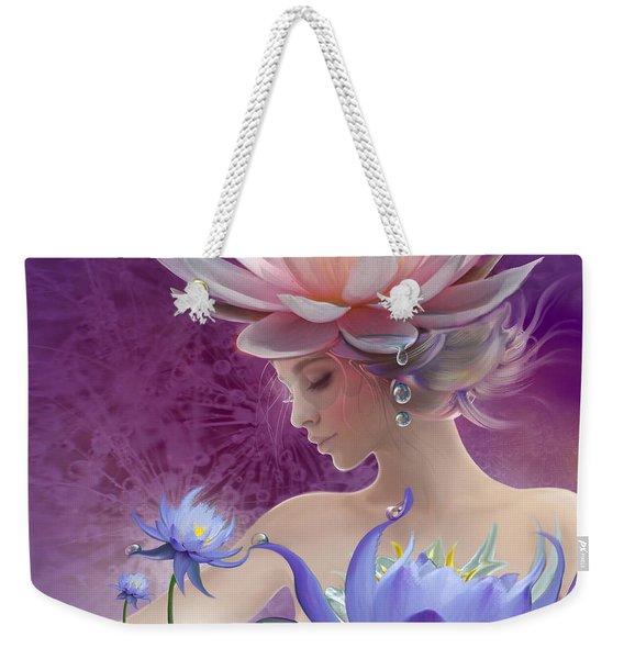 Water Of Life - In Violet Weekender Tote Bag