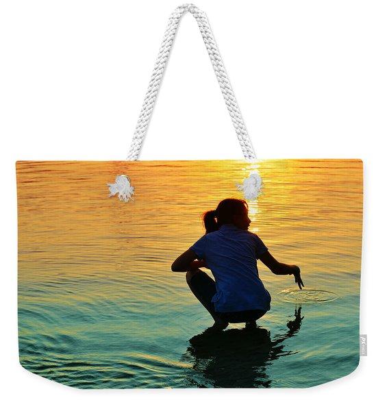 Water Play Weekender Tote Bag