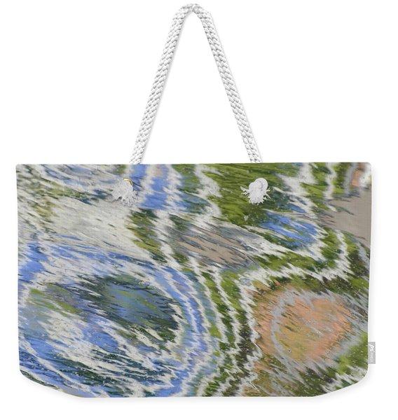 Water Ripples In Blue And Green Weekender Tote Bag