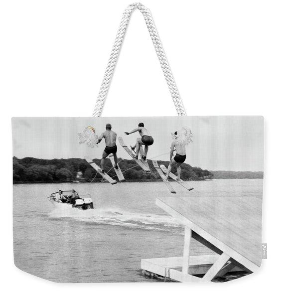Water Ski Show Jumpers Weekender Tote Bag