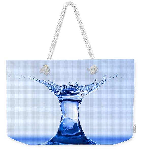 Water Splash Weekender Tote Bag