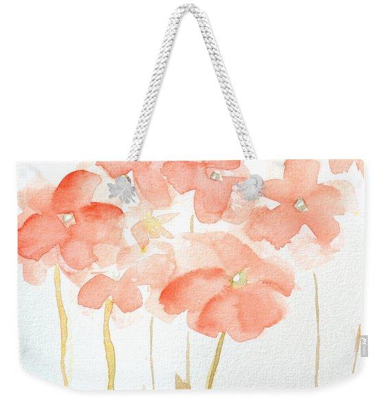 Watercolor Flower Field Weekender Tote Bag