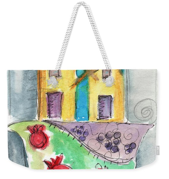 Watercolor Hamsa  Weekender Tote Bag