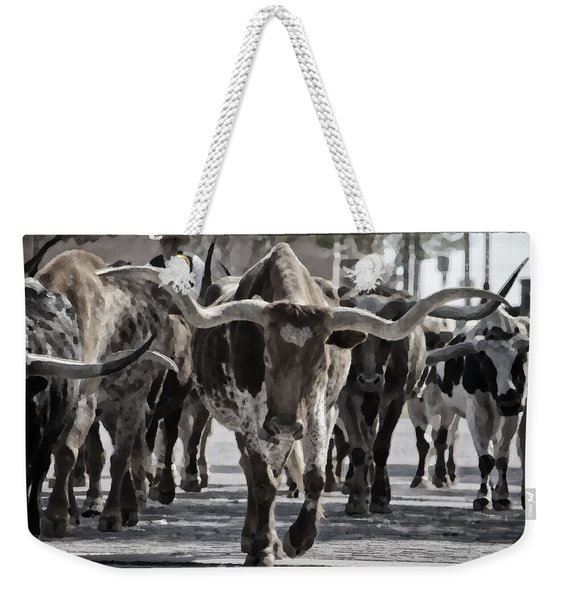 Watercolor Longhorns Weekender Tote Bag