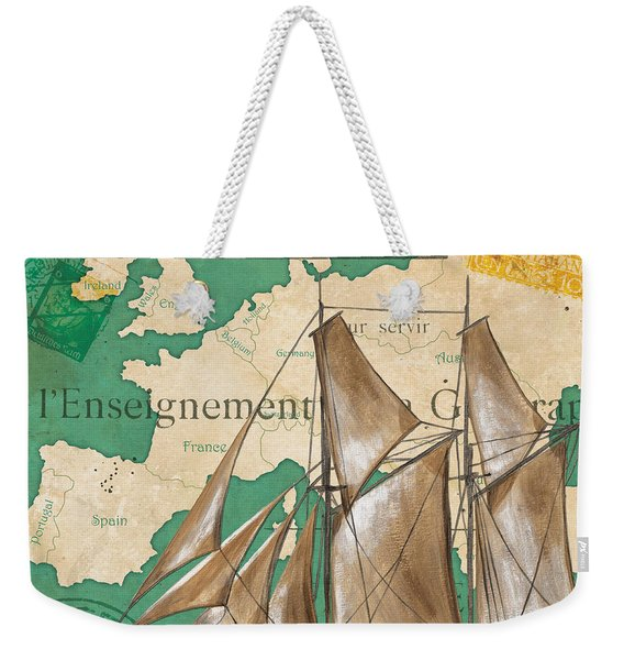 Watercolor Map 1 Weekender Tote Bag
