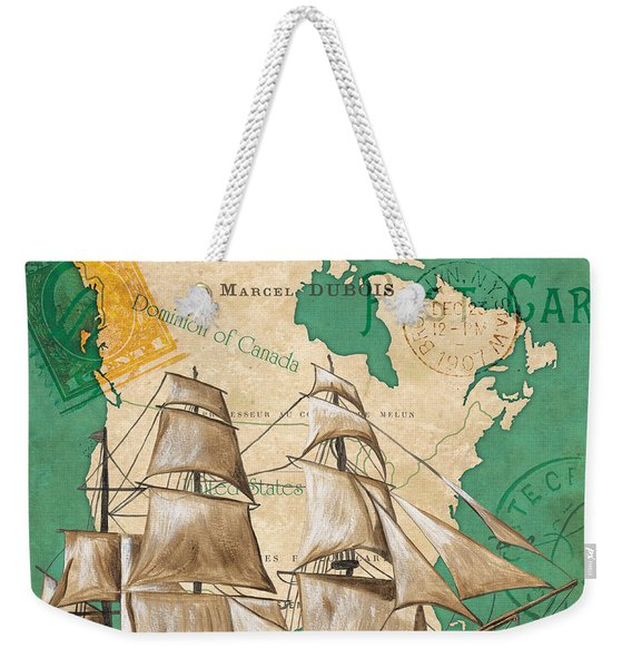 Watercolor Map 2 Weekender Tote Bag