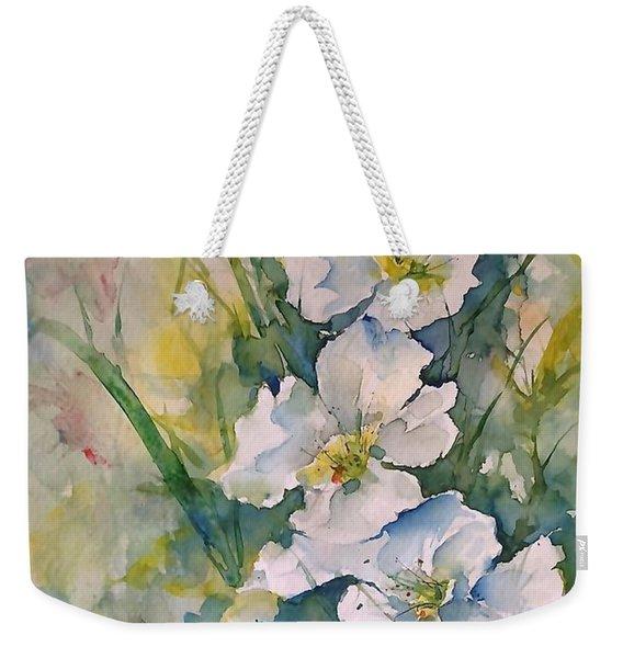 Watercolor Wild Flowers Weekender Tote Bag
