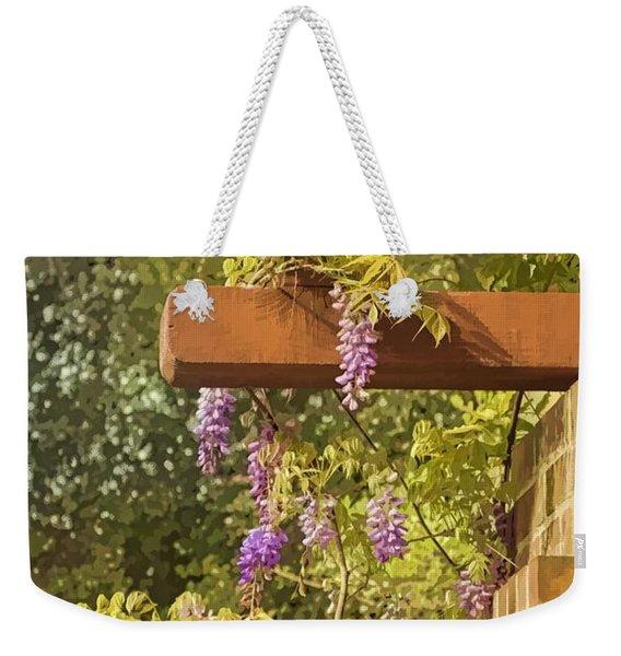 Watercolor Wisteria Weekender Tote Bag