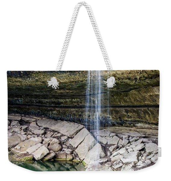 Waterfall At Hamilton Pool Weekender Tote Bag