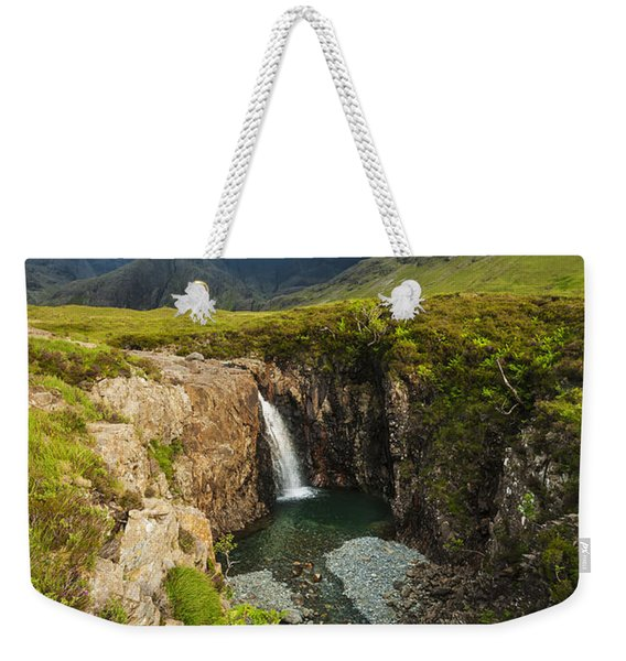 Waterfall In Coire Na Creiche The Fairy Weekender Tote Bag