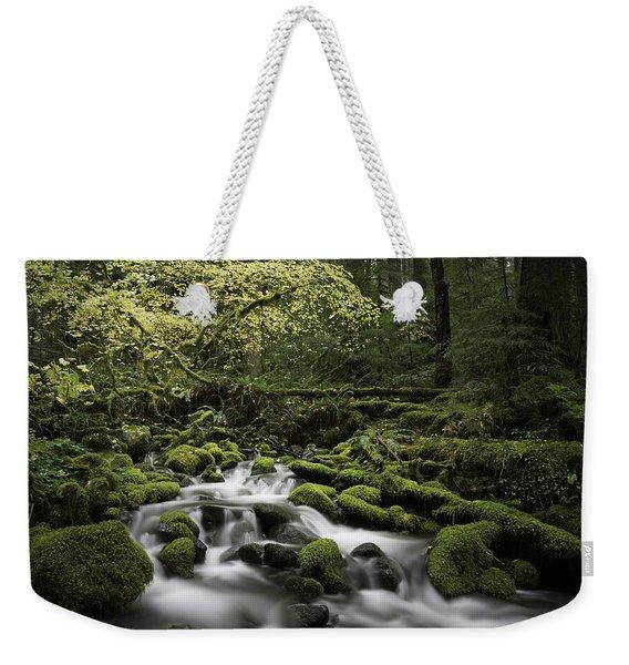 Waterfall In The Fall Weekender Tote Bag