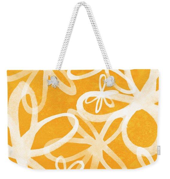 Waterflowers- Orange And White Weekender Tote Bag