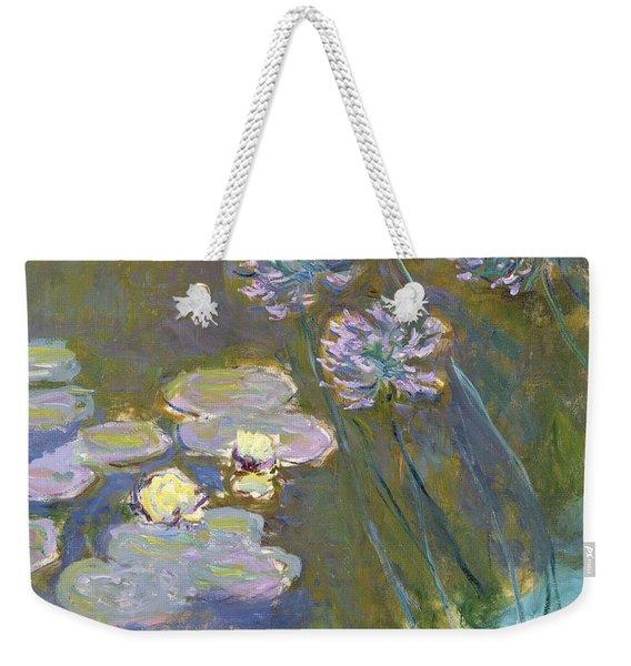 Waterlilies And Agapanthus Weekender Tote Bag