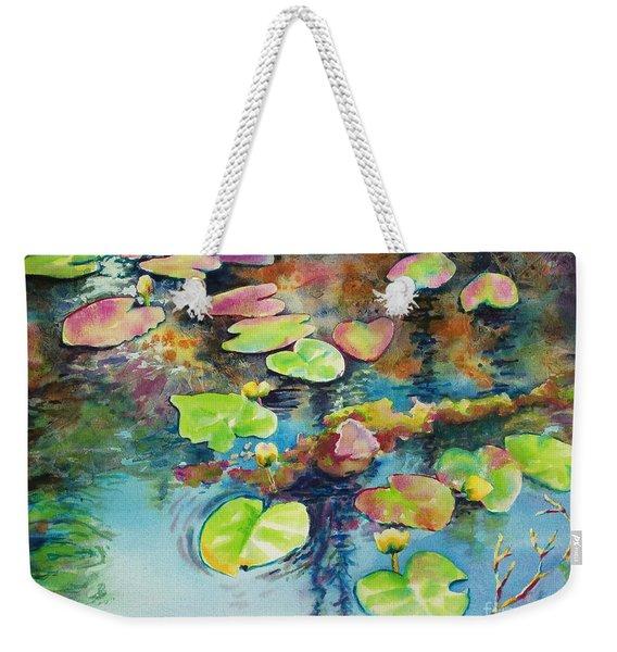 Waterlilies In Shadow Weekender Tote Bag