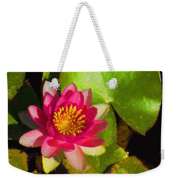 Waterlily Impression In Fuchsia And Pink Weekender Tote Bag