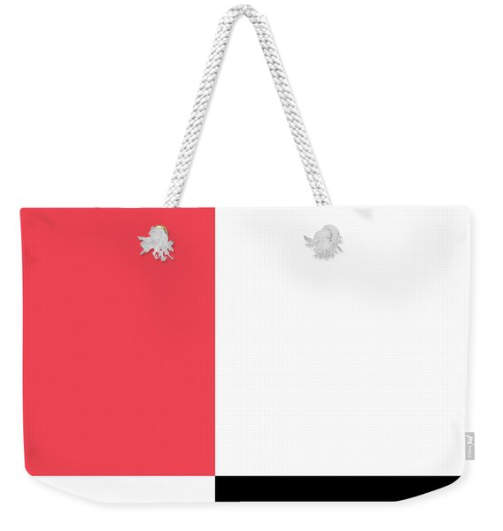Watermelon And Seeds Square Weekender Tote Bag