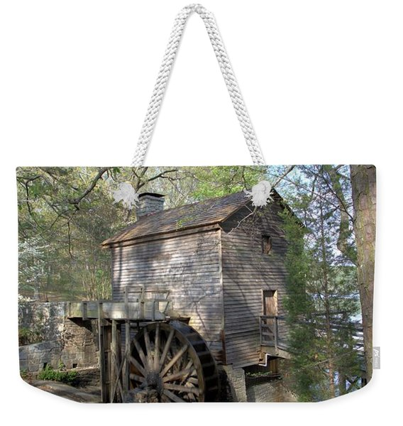 Waterwheel At Stone Mountain Weekender Tote Bag