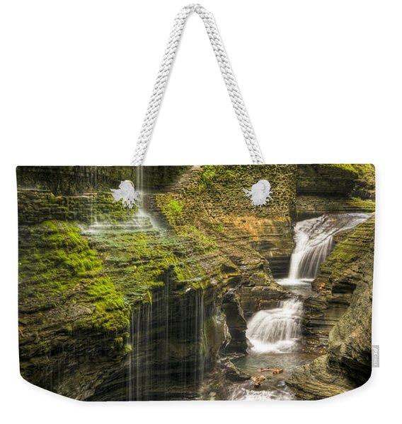 Watkins Glen Rainbow Falls Weekender Tote Bag