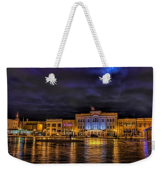 Wausau Ice Rink After Dark Weekender Tote Bag