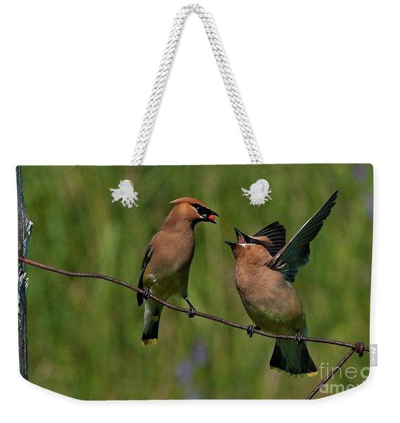 Waxwing Love.. Weekender Tote Bag
