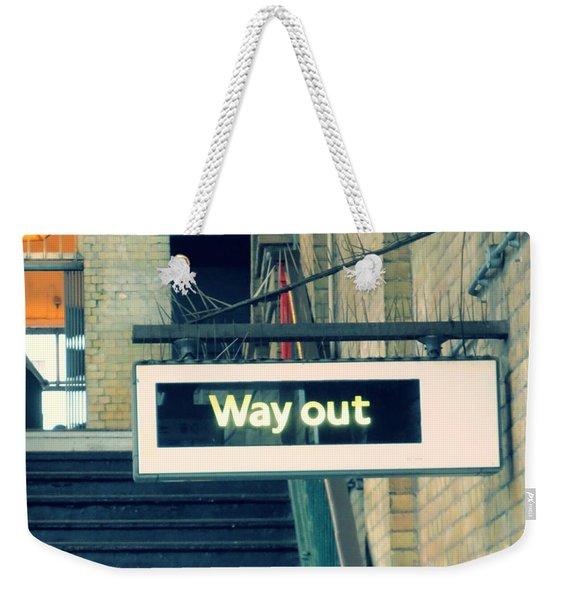 Way Out Weekender Tote Bag