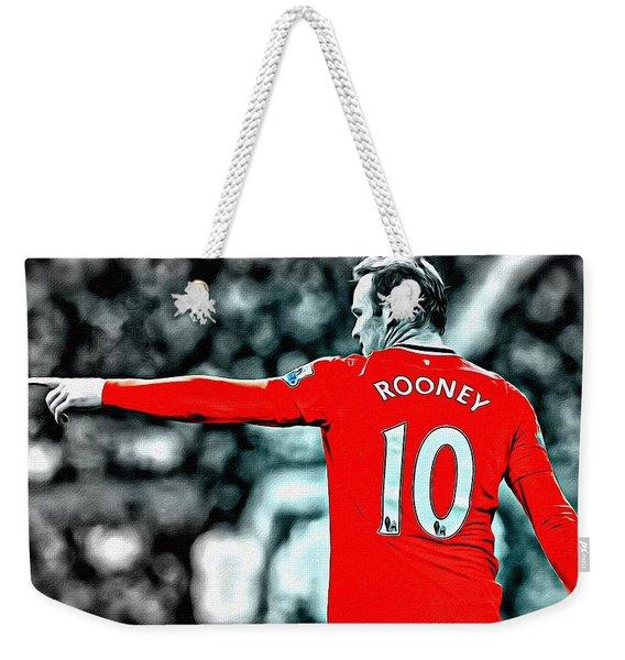 Wayne Rooney Poster Art Weekender Tote Bag