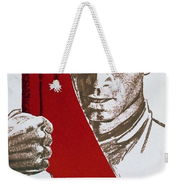 We Carry The Flag Of October Across The Centuries Weekender Tote Bag